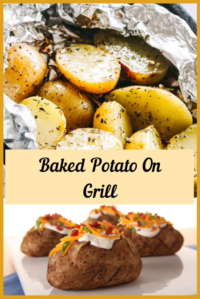 baked potato on grill- easyfoodcookinrecipes