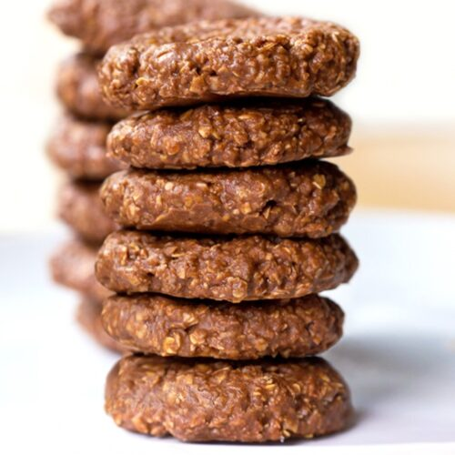 Chocolate peanut butter no-bake cookies (preacher cookies) Recipe ...