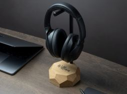 personalized wooden headphone