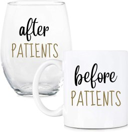Before patients after patiences 11 oz coffee mug