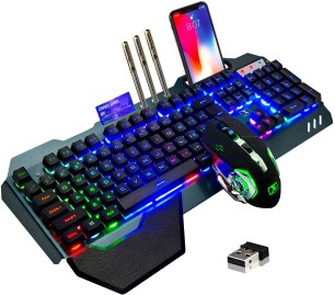 wireless gaming keyboard and mouse rainbow