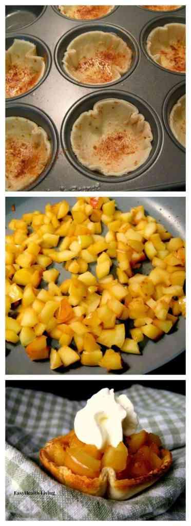 Honey Glazed Apples in Cinnamon Tortilla Cups