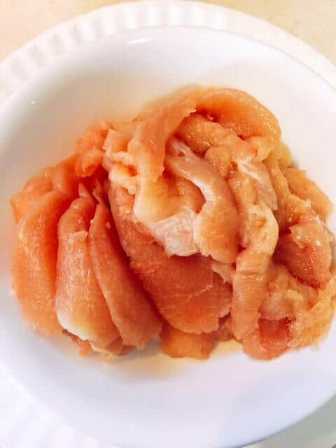 Thinly sliced chicken breast