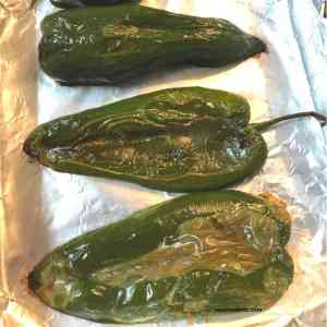 roasted poblanos peppers