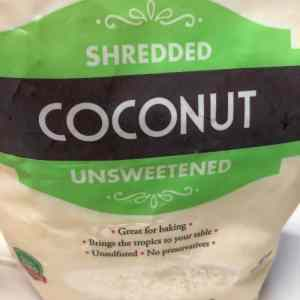 bag of unsweet coconut