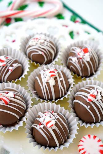 chocolate fudge brownie truffles