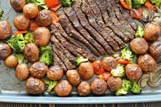 https://www.mylatinatable.com/sheet-pan-flank-steak-garlic-roasted-potatoes/?utm_content=bufferae120&utm_medium=social&utm_source=pinterest.com&utm_campaign=buffer