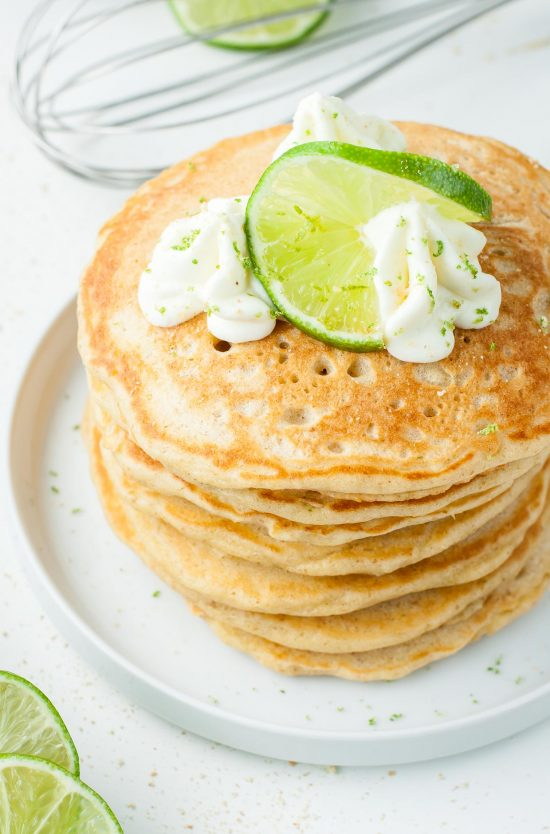 Ultra fluffy and bursting with flavor, these tasty Key Lime Pie Pancakes are a tasty dessert-breakfast fusion guaranteed to jumpstart your day!