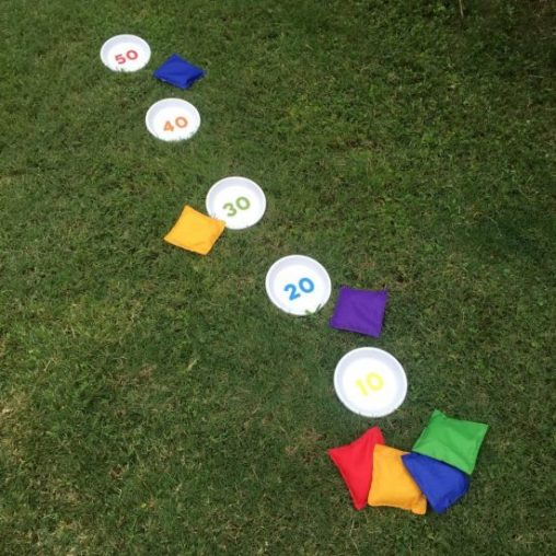 This bean bag game is easy to assemble and you'll have a blast!
