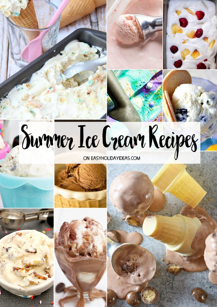Summer Ice Cream Recipes