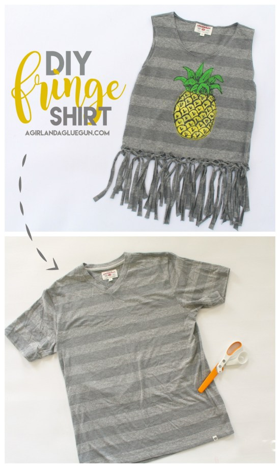make a fringe tank AND how to DIY the pineapple painting on the front!