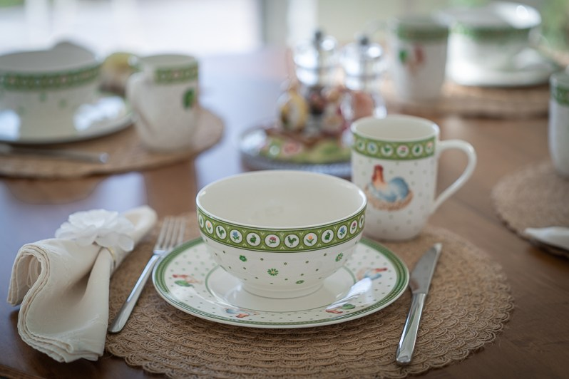 "Villeroy & Boch ""Farmers Spring"" dinnerware line with chicks and spring flowers"