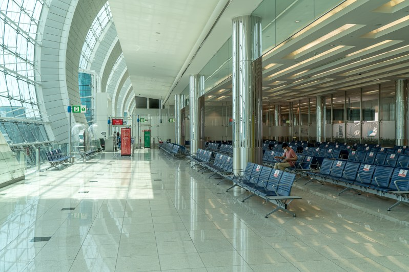 International Dubai Airport during COVID-19 flight experience
