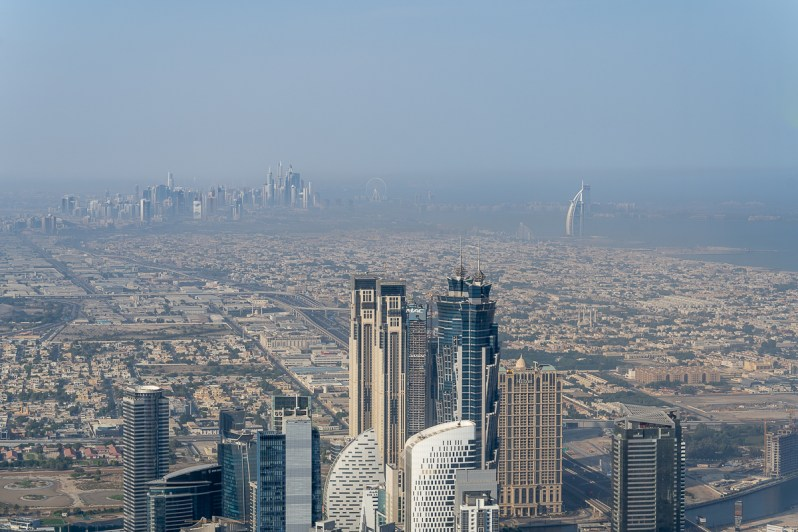 Dubai skyline from AT.MOSPHERE
