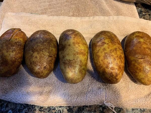 Potatoes sizes