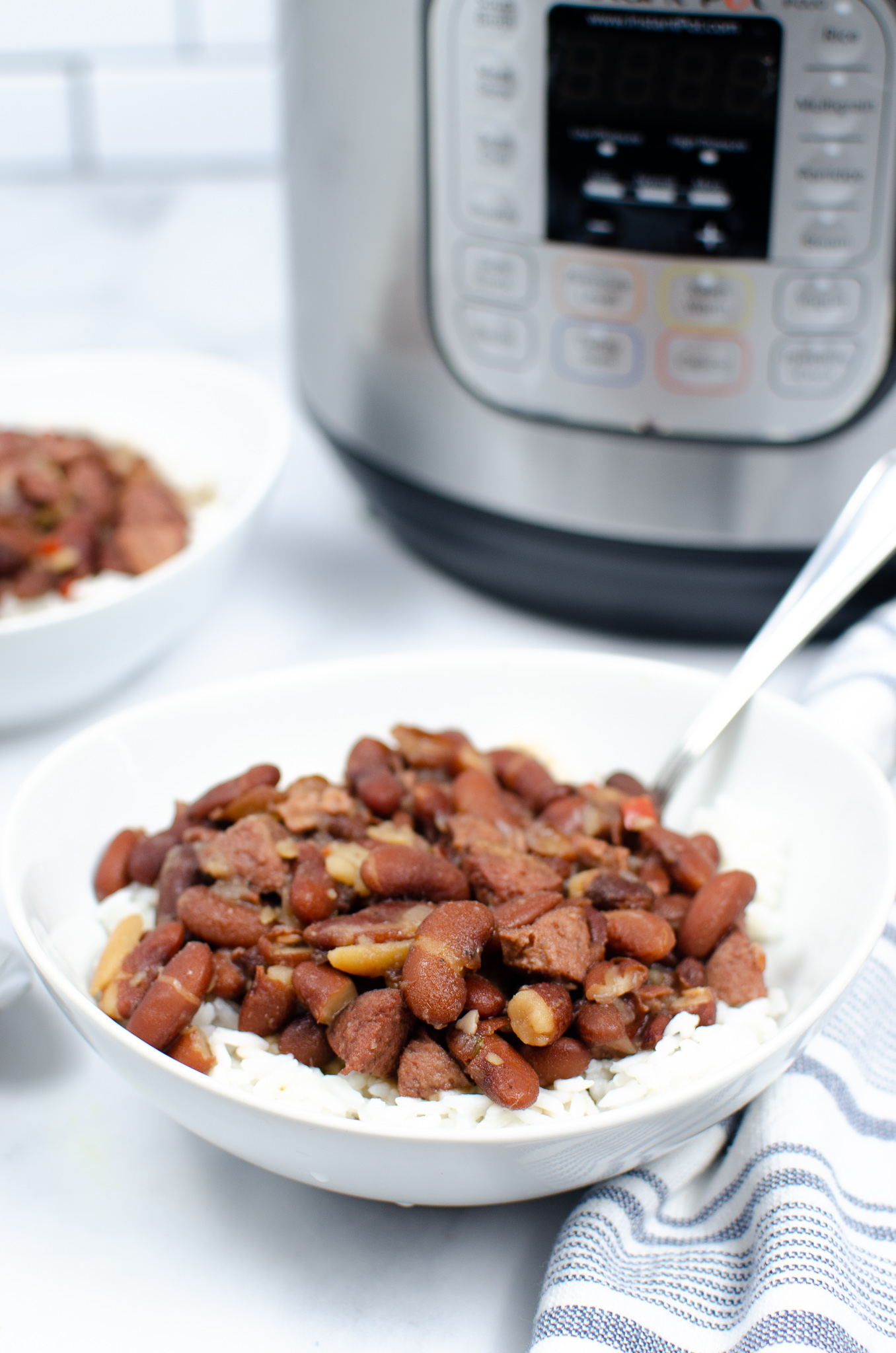 """Featured image for """"Instant Pot Red Beans and Rice"""""""