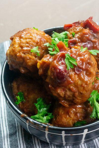 Instant Pot Cranberry Orange Meatballs