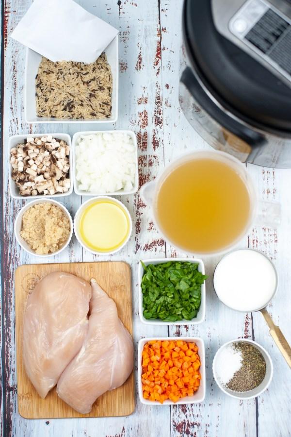 Copycat Panera chicken and wild rice soup ingredients