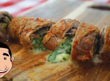 BRACIOLE Recipe - Stuffed Meat with Eggplant Prosciutto and Italian Cheese (VIDEO)