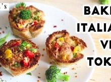 Baked Bread Katori - Bread Pizza Recipe - Evening Snacks - Party Snacks (VIDEO)