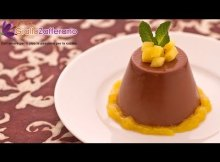 Chocolate panna cotta - Italian recipe (VIDEO)