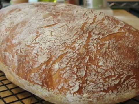 How to Make No-Knead Ciabatta Bread - Amazing Italian Bread (VIDEO)