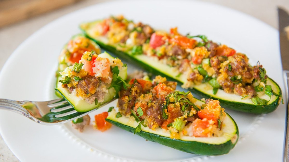 Italian sausage stuffed zucchini boats recipe veggie side dishes italian sausage stuffed zucchini boats recipe veggie side dishes video easy italian recipes forumfinder