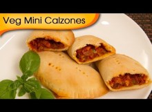 Veg Mini Calzones - Easy To Make Italian Filled Oven Bread Recipe (VIDEO)
