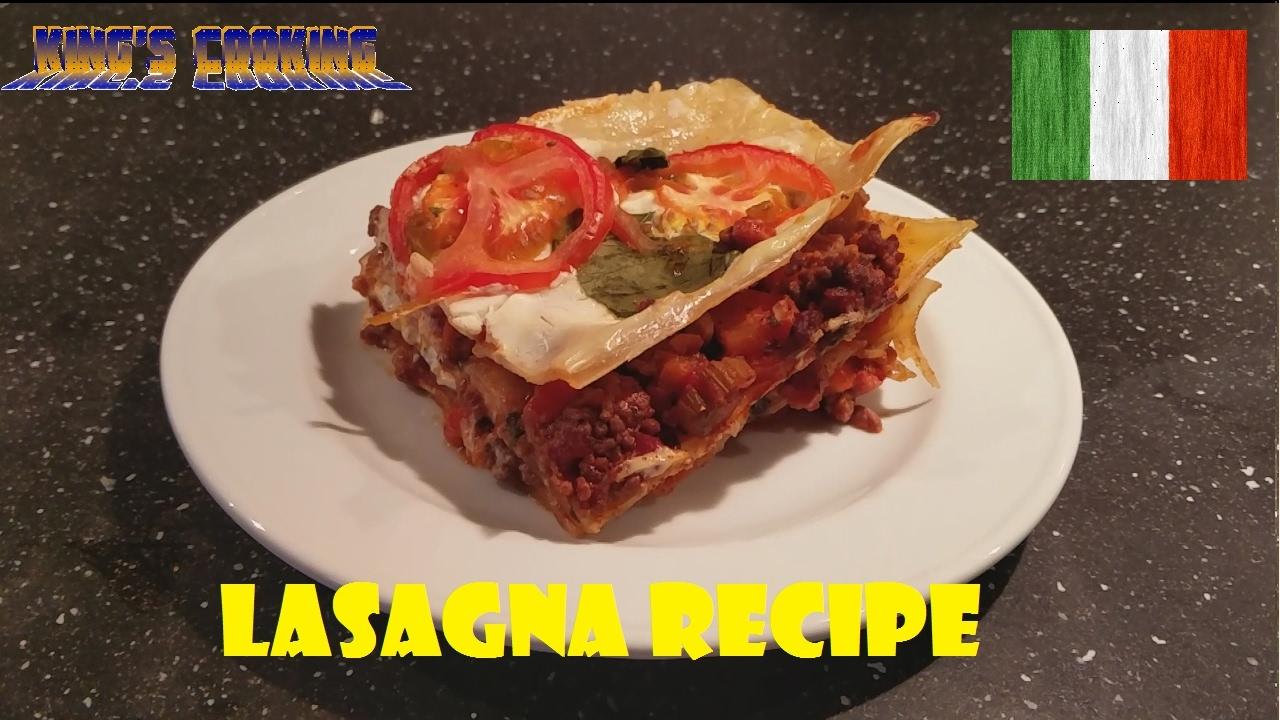 Italian Lasagna Recipe (VIDEO)