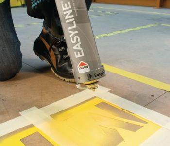 peinture pochoir signalisation bombe de peinture