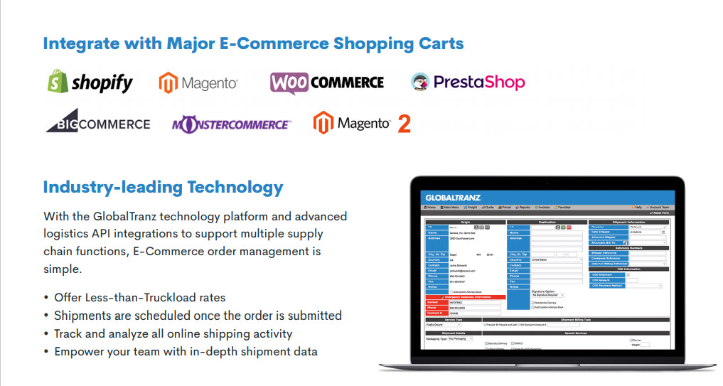 shopify freight shipping overview