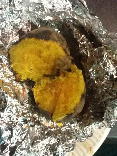 Sweet Potato baked in barbecue