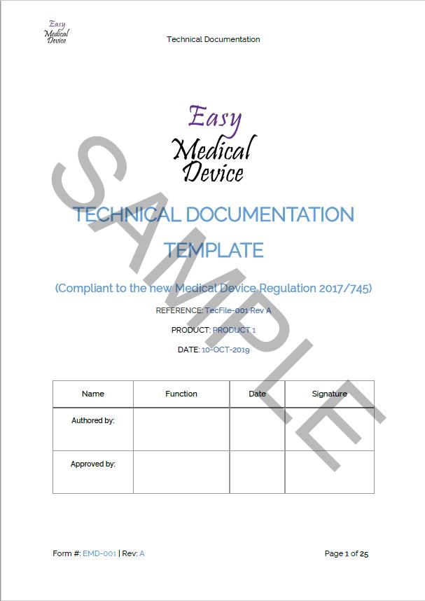 Tech-File-EMD-001-Rev-A-sample Technical Doentation Format Example on