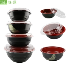 disposable plastic microwave safe soup bowl pp 1000ml with lid