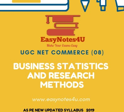 Business statistics and Research Methods for ugc net commerce notes ebook