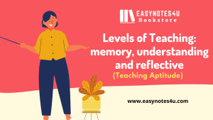 Levels of Teaching: memory, understanding and reflective (Teaching Aptitude)