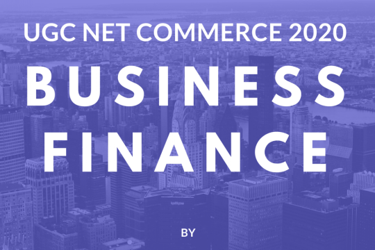 Business Finance Notes & ebook for UGC NET Commerce