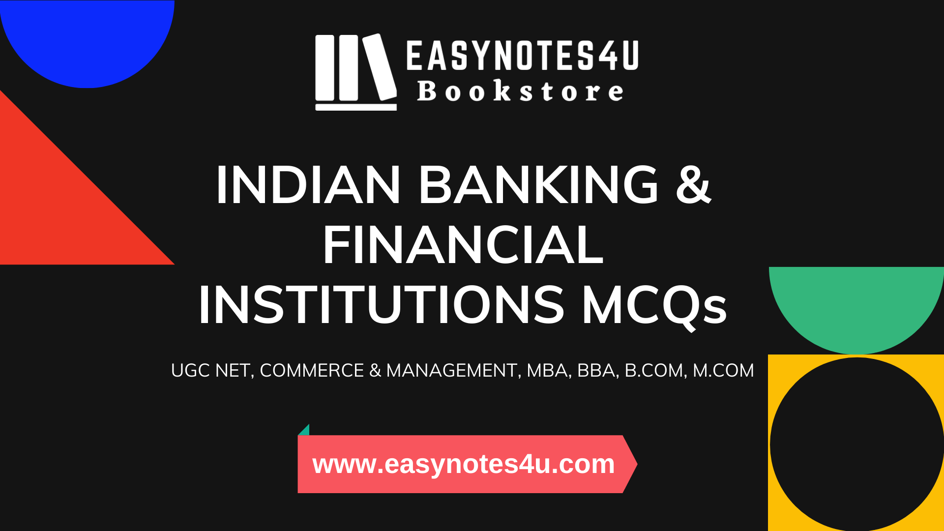 Indian Banking & Financial Institutions MCQs for UGC NET Commerce