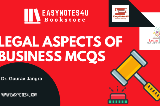 Legal Aspects of Business law MCQs for UGC NET Commerce