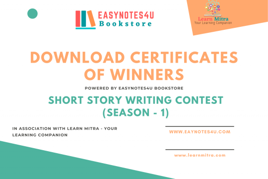 Download Certificates of Winners for Short Story Writing Competition
