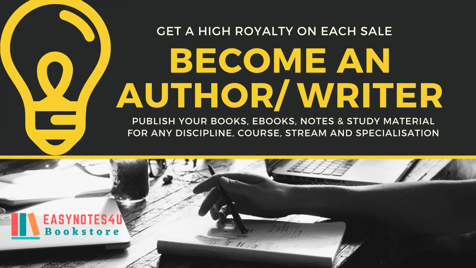 Become an Author/ Writer and Publish your Book with High Royalty
