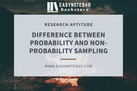 Difference between Probability and Non-Probability Sampling (Research Aptitude)