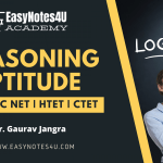 Reasoning Aptitude MCQs for UGC NET | HTET | CTET