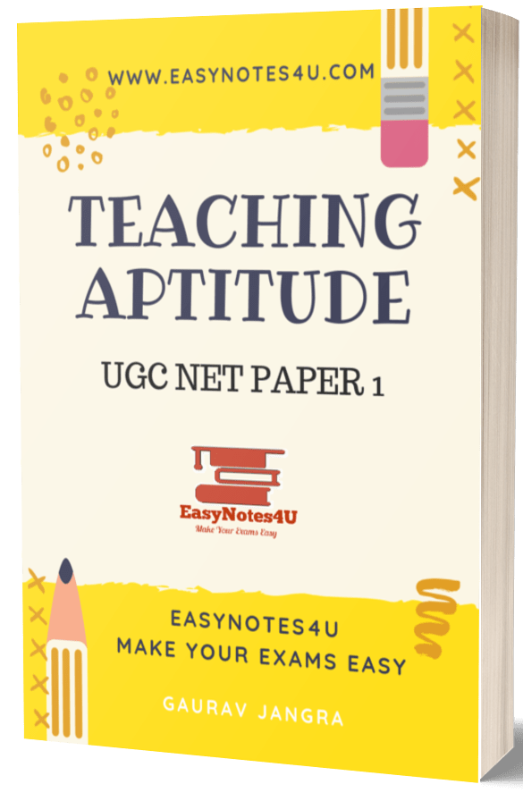 teaching aptitude Book Notes eBook UGC NET Paper 1