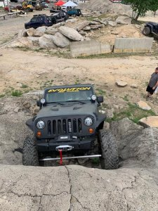 Evolution Jeep Alliance member Shaun McMahon making the climb for charity at Rausch Creek off road Pine Grove, PA. Photo by Jake Hayden