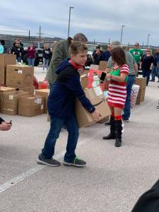 AJP Annual Christmas toy delivery to soldiers' families at Fort Hood.