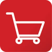 shopping cart icon red