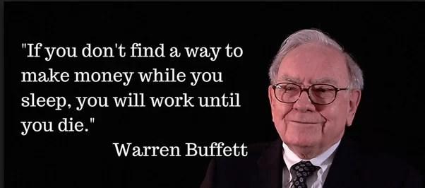 Warren Buffett quote make money while you sleep