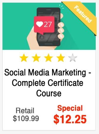 Social Media Marketing Complete Certificate Course