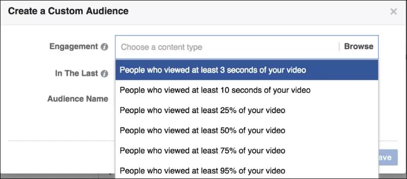 People who viewed 3 seconds of Facebook Video
